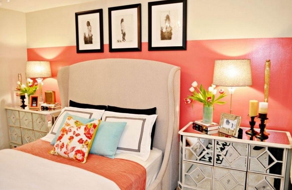 Coral-color-bedroom-interior-design
